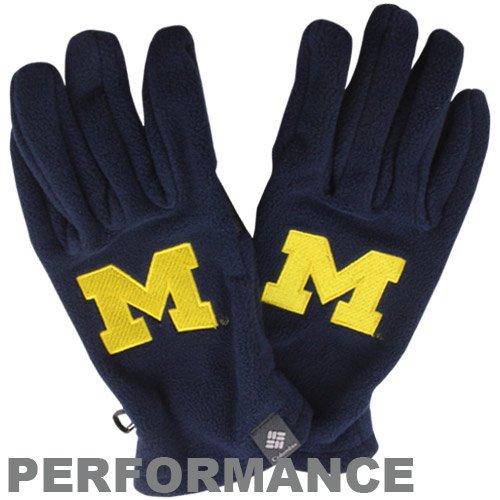 Michigan Wolverines Navy Columbia Thermarator Gloves