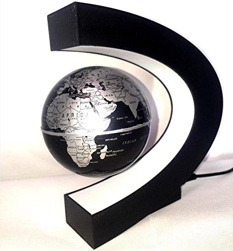 グライクス 見た人を驚かせる 不思議な 浮いている 地球儀(ブラック)