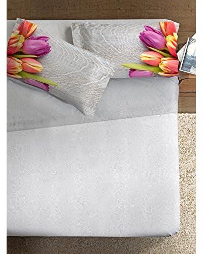 Ipersan Betttuch und Kissenbezug Tulips mehrfarbig