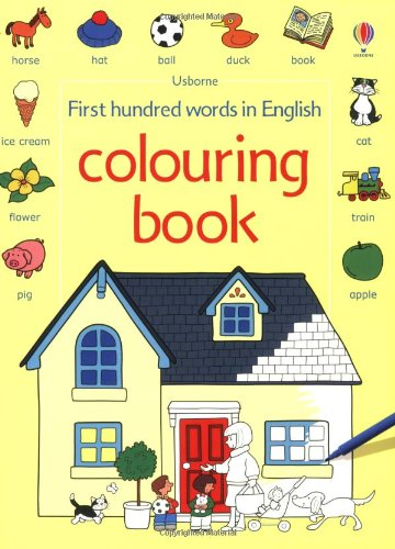 First hundred words in English colouring book (Le prime mille parole)