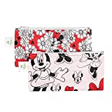 Bumkins Disney Baby Minnie Mouse Reusable Snack Bag, Red, Small, 2 Count