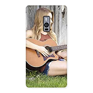 Guitar Girl Multicolor Back Case Cover for OnePlus Two