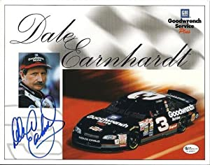 Dale Earnhardt Sr. Autographed Hand Signed 8x10 Photo - Car and Driver by Real Deal Memorabilia