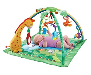 (历史最低)费雪健身房Fisher-Price Rainforest Melodies and Lights Deluxe Gym $39.01