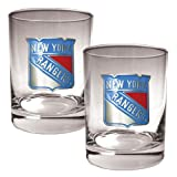 NHL New York Rangers Two Piece Rocks Glass Set - Primary Logo at Amazon.com