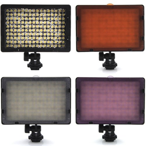 Bestim Canon Nikon Dslr Camera 9.6W 1250Lm 160 Led Video Light Lamp Panel Dimmable