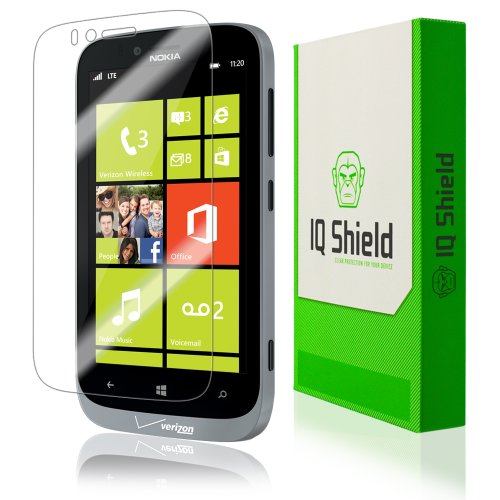 Iq Shield Liquidskin - Nokia Lumia 822 Screen Protector With Lifetime Replacement Warranty - High Definition (Hd) Ultra Clear Phone Smart Film - Premium Protective Screen Guard - Extremely Smooth / Self-Healing / Bubble-Free Shield - Kit Comes In Frustrat