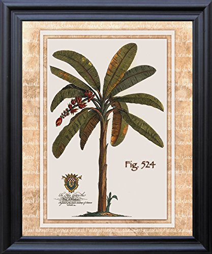 Tropical-Palm-Tree-Landscape-Bathroom-Wall-Decor-Black-Framed-Picture-Art-Print-19x23