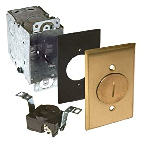 Hubbell Raco 6236 Steel Box And Rectangular Brass Cover