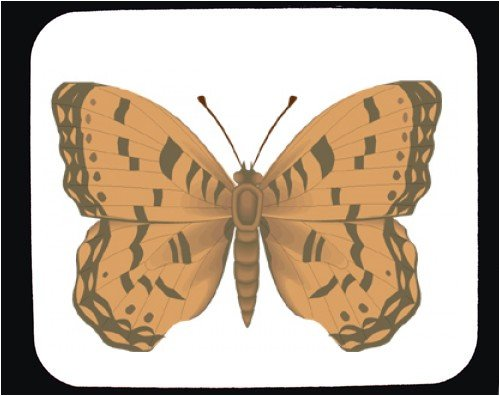 Mouse Pad with butterfly, tan, beige - Buy Mouse Pad with butterfly, tan, beige - Purchase Mouse Pad with butterfly, tan, beige (SHOPZEUS, Office Products, Categories, Office Supplies, Desk Accessories)