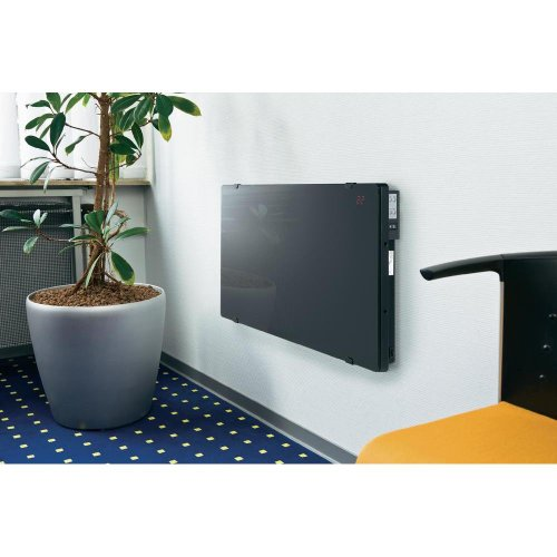 Black Glass Convection Heater with Remote
