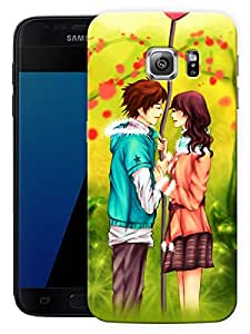 "Girl Boy Couple Love Printed Designer Mobile Back Cover For ""Samsung Galaxy S7 Edge"" (3D, Matte, Premium Quality Snap On Case)"