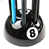 Original Giant BLACK 8 Ball Cue Stand Rack Holds Up To 9 Cues