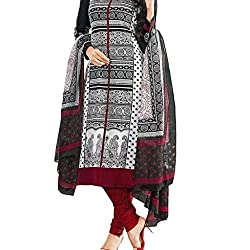 Shree Hari Creation Women's Poly Cotton Unstitched Dress Material (3613_Multi-Coloured_Free Size)