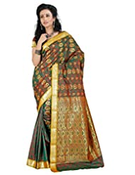 Roopkala Green Kanjivaram Art Silk Saree