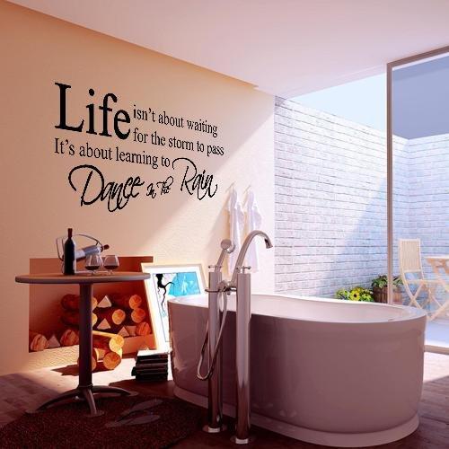 ecloud shop 2 pieces life spruch wandtattoo wandaufkleber. Black Bedroom Furniture Sets. Home Design Ideas