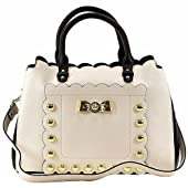 Betsey Johnson Women's Studded Affair Satchel Handbag