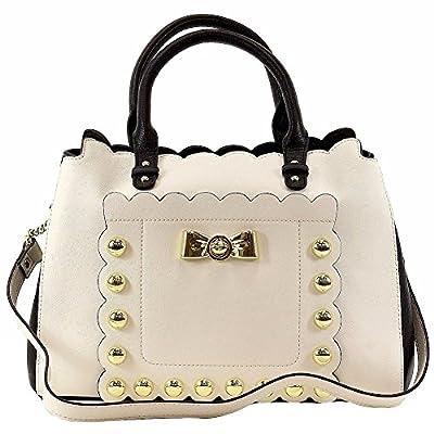 Betsey Johnson Women's Studded Affair Satchel Handbag