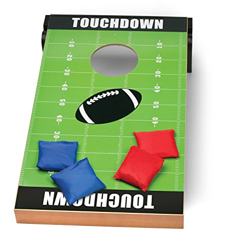 Outdoor-Backyard-Cornhole-Bags-Football-Target-Board-Lawn-Game-Set-KIDS-SIZE-Bean-Bag-Toss-for-Children-Parties-Tailgates-Summer-Camp-Barbecue-Events