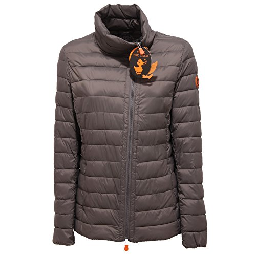 9073Q giubbotto SAVE THE DUCK POCKETABLE grigio giacca donna jacket woman [3/L]