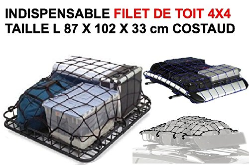 GENIAL FILET DE TOIT 87cm X 102 cm X 33 SPECIAL 4X4 REMORQUE PICK-UP INDISPENSABLE! RAID PREPARATION 4X4