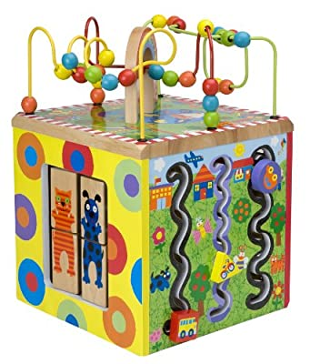 ALEX Jr. My Busy Town Wooden Activity Cube from ALEX Toys