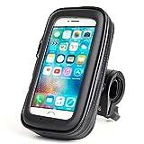 adelphos 360度回転 自転車 バイク 防水 防塵 ケース マウントキット マウント バー マウントホルダー iphone 各種スマホ対応 調整クッション3枚付き【製品保証3か月】 (XL)