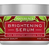 Nature Ace PREMIUM Brightening Serum & Whitening Mask 4oz - For Face, Skin and Body - Made In USA - Results Guaranteed Or Your Money Back - Skin Whitener and Lightener