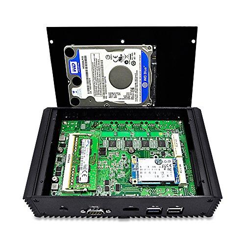 QOTOM-Q310G4 High Performance Tiny Computer with Intel Core 3215U 8GB Ram 128GB mSata SSD 4 Gigabit
