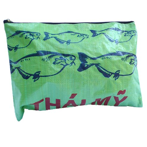 Image of Large Recycled Rice Bag - Green