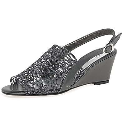 zodiaco faith womens dress sandals 5 38 pewter