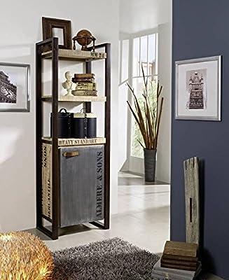 Massivholz Möbel bedruckt Industrial-Stil Mangoholz Regal vollmassiv Eisen Factory #104