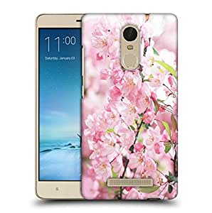 Snoogg White Small Flower Printed Protective Phone Back Case Cover For Xiaomi Redmi Note 3