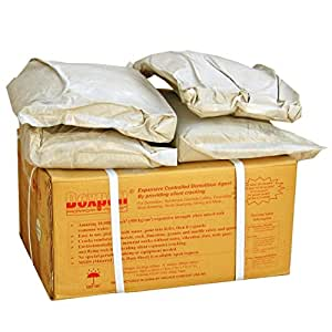 Dexpan Non Explosive Controlled Demolition Agent (44lb box) for Concrete Cutting, Rock Breaking, Excavating, Quarrying, Mining by Silent Cracking. Alternative to Blasting, Jackhammer, Diamond Blade Concrete Saw, Rock Drill, Demolition Hammer Breaker