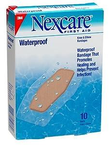Nexcare Waterproof Bandage, Knee & Elbow 10 ct