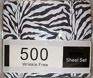Amazon.com - Black White Zebra Print Queen Size Sheet Set 4 Pc