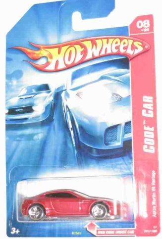 Hot Wheels #8 Aston Martin V8 Vantage Red #2007-92 1:64 Scale Collectible Die Cast Car - 1