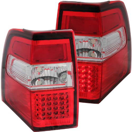 Anzo Usa 311108 Ford Expedition Red/Clear Led Tail Light Assembly - (Sold In Pairs)