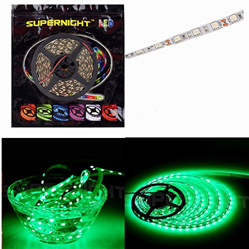 SUPERNIGHT® 16.4FT 5M SMD 5050 Green IP68 Waterproof