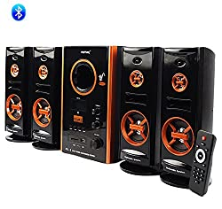 Vemax Eiffel BLUETOOTH Hi Bass Surround Sound System With FM USB AUX MMC ( Black & Copper)