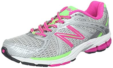 New Balance Women's W780v3 Running Shoe,Silver/Pink,8.5 B US