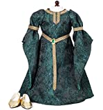 "Celtic Princess Medieval Dress and Shoes Fits 18"" American Girl Dolls"