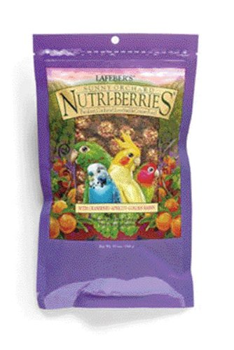 Lafeber's Gourmet Sunny Orchard Nutri-Berries for Cockatiels 10-Ounce Bag