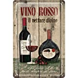 赤ワイン Vino Rosso / ブリキ看板 TIN SIGN