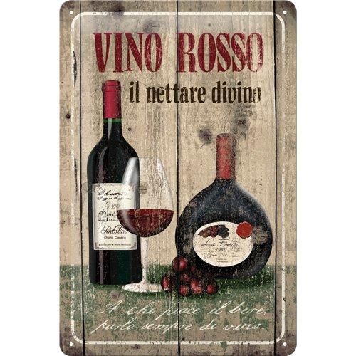Vino Rosso - Targa in metallo 20x30cm