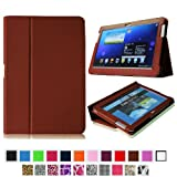 Fintie Slim Fit Folio Case Cover For Samsung Galaxy Note 10.1 Inch Tablet N8000 N8010 N8013 - Brown