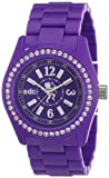 edc Ladies Wristwatch Disco Glam - Crazy Purple With Gemstones A.EE900172005