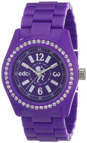 edc Ladies Wristwatch Disco Glam - Crazy Purple With Gemstones A.EE900172005