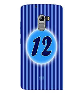 PrintDhaba Numerology Number 12 D-2568 Back Case Cover for LENOVO VIBE X3 LITE (Multi-Coloured)