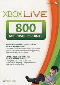 Tarjetas de 800 Microsoft Points.